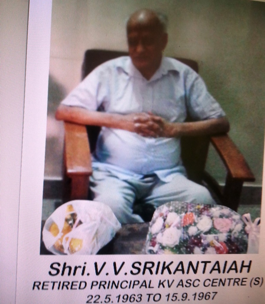 Former Principal Sri  Srikantaiah passed away in September 2015. May his soul Rest in Peace.