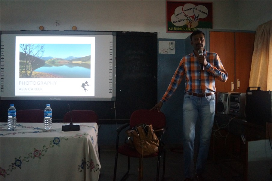 Venkatesh Katta of ToeHold.in  giving his talk on photography as a career