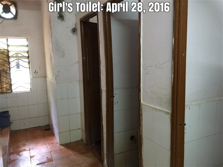 Just before starting the project of renovation of toilets