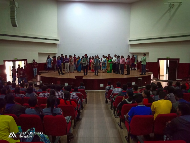 Our students in Ramaiah Institute of Technology auditorium