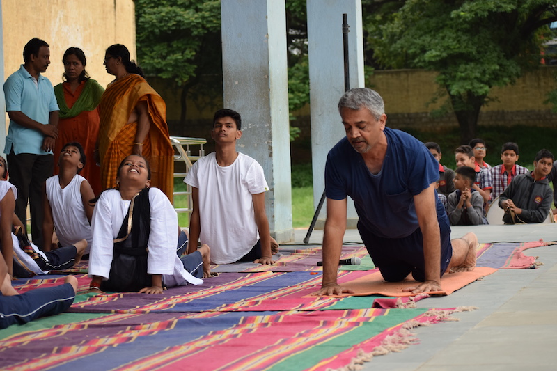 Yoga demonstration on International Yoga Day